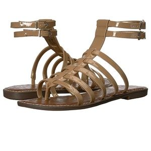 Sam Edelman Gilda Gladiator Tan Strap Sandals 9